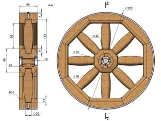 Как сделать колесо для телеги из дерева?