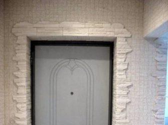 Как можно отделать дверной проем входной двери?