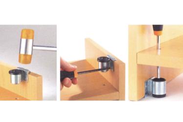 Как устанавливать подпятники на мебель?